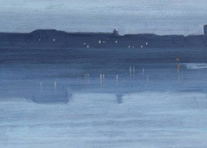 Nocturne: Blue and Silver - Chelsea 1871 James Abbott McNeill Whistler 1834-1903 Bequeathed by Miss Rachel and Miss Jean Alexander 1972 http://www.tate.org.uk/art/work/T01571